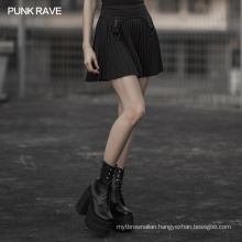 OPQ-576 punk rave gothic lace stitching mesh half a line micro mini casual skirt