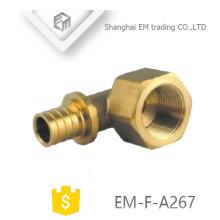 EM-F-A267 latón diámetro diferente tuerca hexagonal hembra hilo circular unión unión