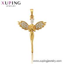33969 xuping jewelry fashion 24k gold plated angel charm stone pendant