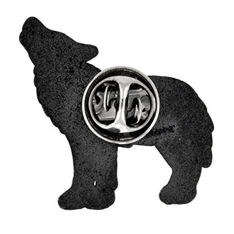 Wolf Enamel Lapel Pins