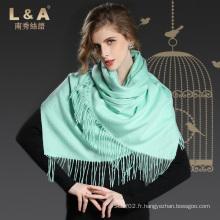 Accessoires de mode Vert clair Pashmina Wrap Lady Scarf