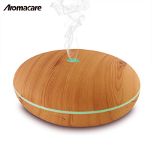 400ml ätherisches Öl Diffusor Holz Großhandel Aromatherapie Aroma Diffuser Luftbefeuchter Bunte LED Nacht Lampe