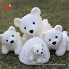 Wholesale Christmas Animal Doll Custom GiantLargeMini Soft Stuffed Plush Polar Bear Toys