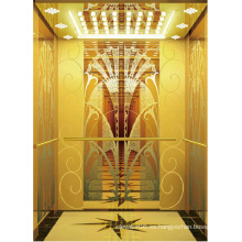Elevador de pasajeros Ascensor Espejo de oro de alta calidad grabado Aksen Ty-K164