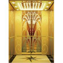 Ascenseur d'ascenseur de passager de haute qualité miroir d'or gravé Aksen Ty-K164
