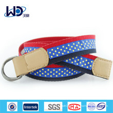Double D Ring PU Tape Canvas Belt
