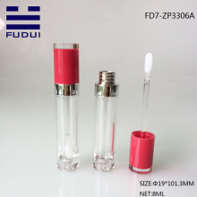 Round Empty Plastic Cosmetic Lip Gloss Tube
