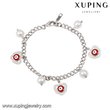 71959 Fashion Lovely Rhodium Couleur Eye Pearl Bijoux Promotionnel Bracelet