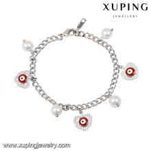 71959 moda adorável ródio cor olho pérola jóias promocionais pulseira