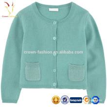 Crianças baratos tricô vestuário para crianças com dois bolso frontal
