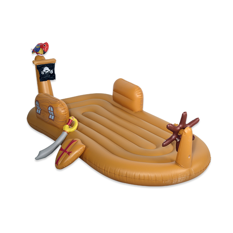 Cute children's inflatable floating bed