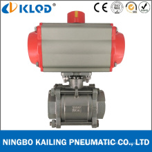 "1/2"" Double Acting Pneumatic Actuator Ball Valve for Water Q611f"