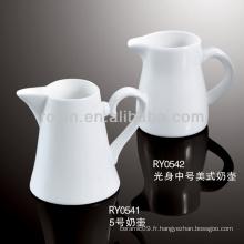 Cuisinière à lait en porcelaine blanche durable et saine
