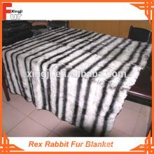 Imprimé Chinchilla Rex Rabbit Fur Blanket