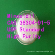 Matière première de Pharma Minoxidil CAS 38304-91-5 Pharma de Minoxidil d'USP favorisant la recroissance de cheveux