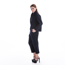 New styles blue stripes cashmere suit