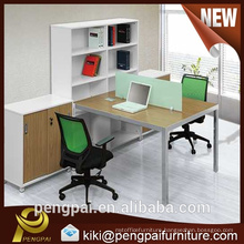 Modern style office staff desk with cabinet low price