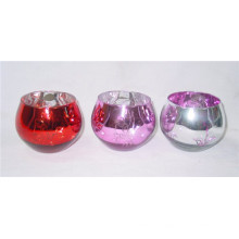 Wedding Silver Plated Glass Votive Candle Holder