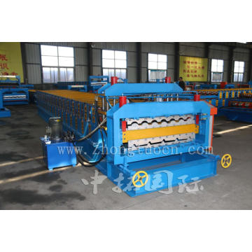 Double Deck Colored Steel Roll Forming Machine