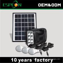 Système d'éclairage solaire de réseau de 5w outre de la meilleure vente en Afrique