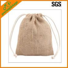 sacos de cordão reutilizáveis pequenos da juta da matéria prima