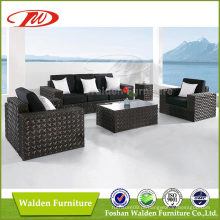Mobília do pátio Móveis de Rattan Sofá conjunto Móveis de jardim ao ar livre (DH-N9024)