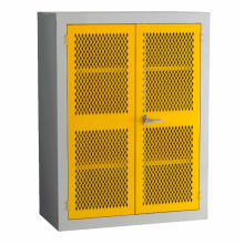 Yellow Mash Door Steel Storage Cupboard