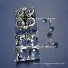 Ombre de lampe en plastique de revêtement UV de galvanoplastie