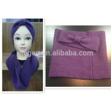 Winter/Fall China factory Acrylic Knitted Hat and snood sets