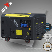 BISON Air-cooled 10 kva 10kw sound proof diesel generator 10kva silent diesel generator price list