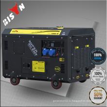BISON China Taizhou 12kw Китай Поставщики Портативный бесшумный трехфазный генератор переменного тока 380 вольт