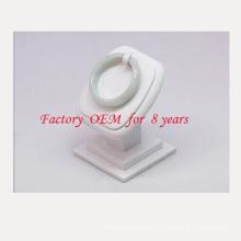 Suporte de exposição branco vertical da jóia da pulseira do plutônio (BT-G2-WL)