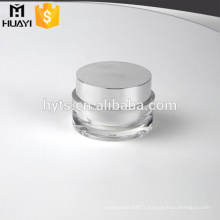 fancy round lid acrylic container empty cosmetic jars