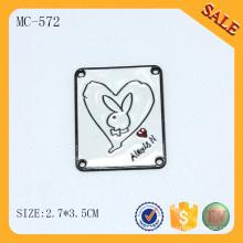 MC572 Benutzerdefinierte bunte Kleidung Etiketten und Tags