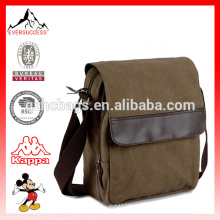Mens Small Canvas Messenger Bag with One Shoulder Strap Working Bag
