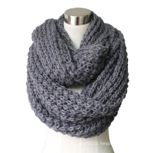 Lady Fashion Acrylic Knitted Chunky Infinity Scarf (YKY4376-3)