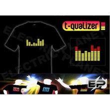 [Супер дело]оптом 2009 мода горячие продажа футболка А26,El футболки,LED футболки