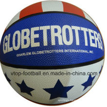Three Colors Rubber Basketball Toys