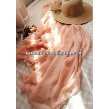 Женский полиэфирный розовый шарф для продажи