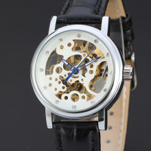 domed glass watch  mininalist design with diamond dial