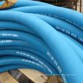 Manguera de goma hidráulica resistente al calor flexible reforzada con alambre azul
