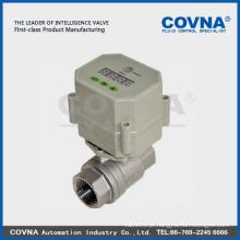 SS 304/316 válvula de esfera motorizada para medidores de cartão IC / tratamento de água