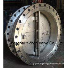 Válvula de aço inoxidável com flange de chapa dupla (H46)
