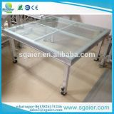low price 1.22*1.22m*0.3m Glass stage for event only 82 usd /sqm