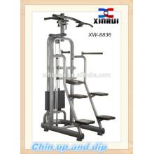Chin arriba y sumerja el equipo de la aptitud / el equipo del gimnasio / la máquina de la fuerza