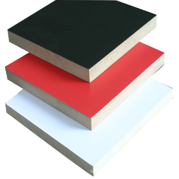 black brown red film faced plywood with poplar finger joint core melamine glue for construction concrete formwork