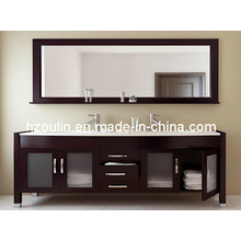 Double Basin Solid Wood Bathroom Vanity (BA-1121)