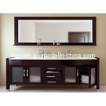 Double Basin Solid Wood Bathroom Vanity (BA-1121)