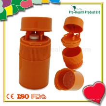 Triturador de pílulas de plástico multifuncional com caixa de cortador de comprimidos