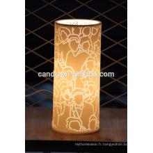 Décoration design moderne blanc économie d'énergie lampe de table d'hôtel